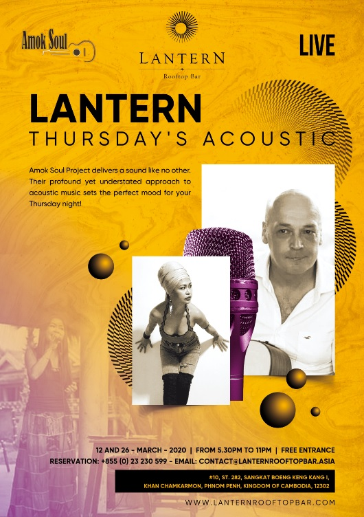 Lantern Thursday s acoustic - Amok Soul - 12 and 26 March 2020