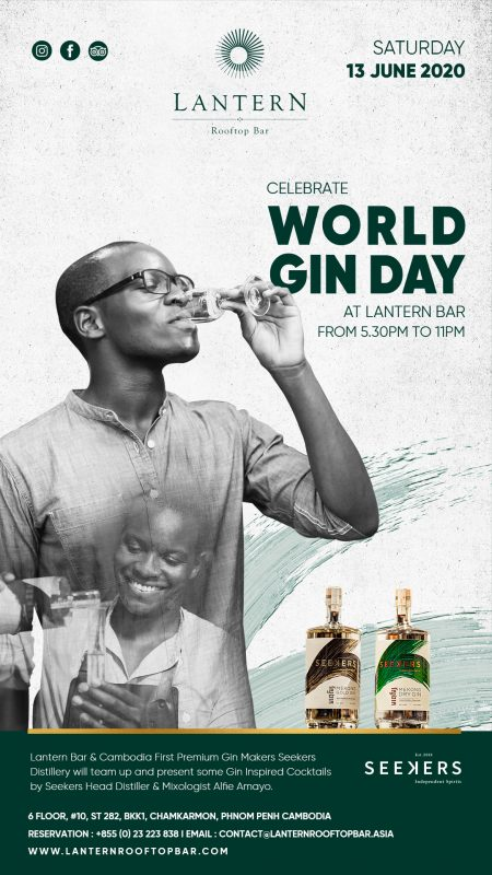 World Gin Day with Seekers Gin - 13th June 2020