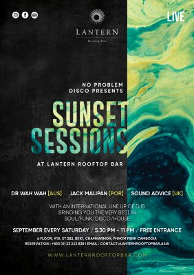Sunset Sessions at Lantern Rooftop Bar – No problem Disco – Every Saturday of August