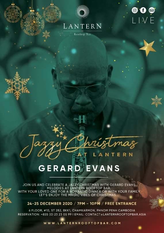 Jazzy Christmas with Gerard Evans - 24 & 25 December 2020