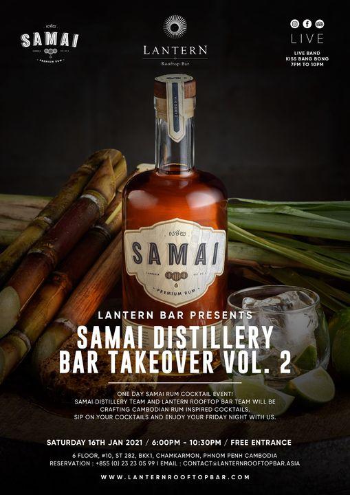 Samai Distillery Bar Takeover vol. 2 - Saturday 16 January 2021