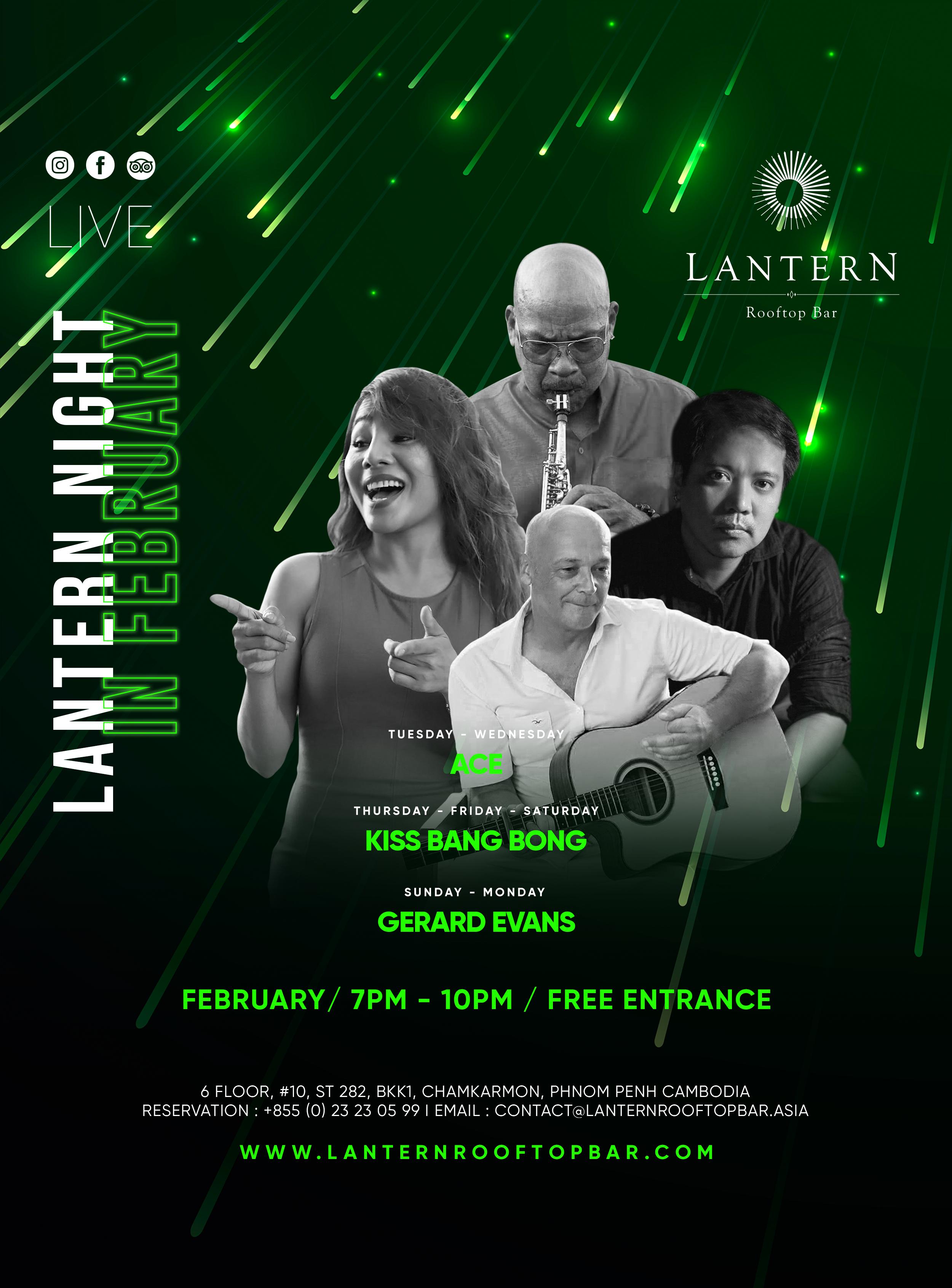 February Lantern Nights - Live music 7 days a week!