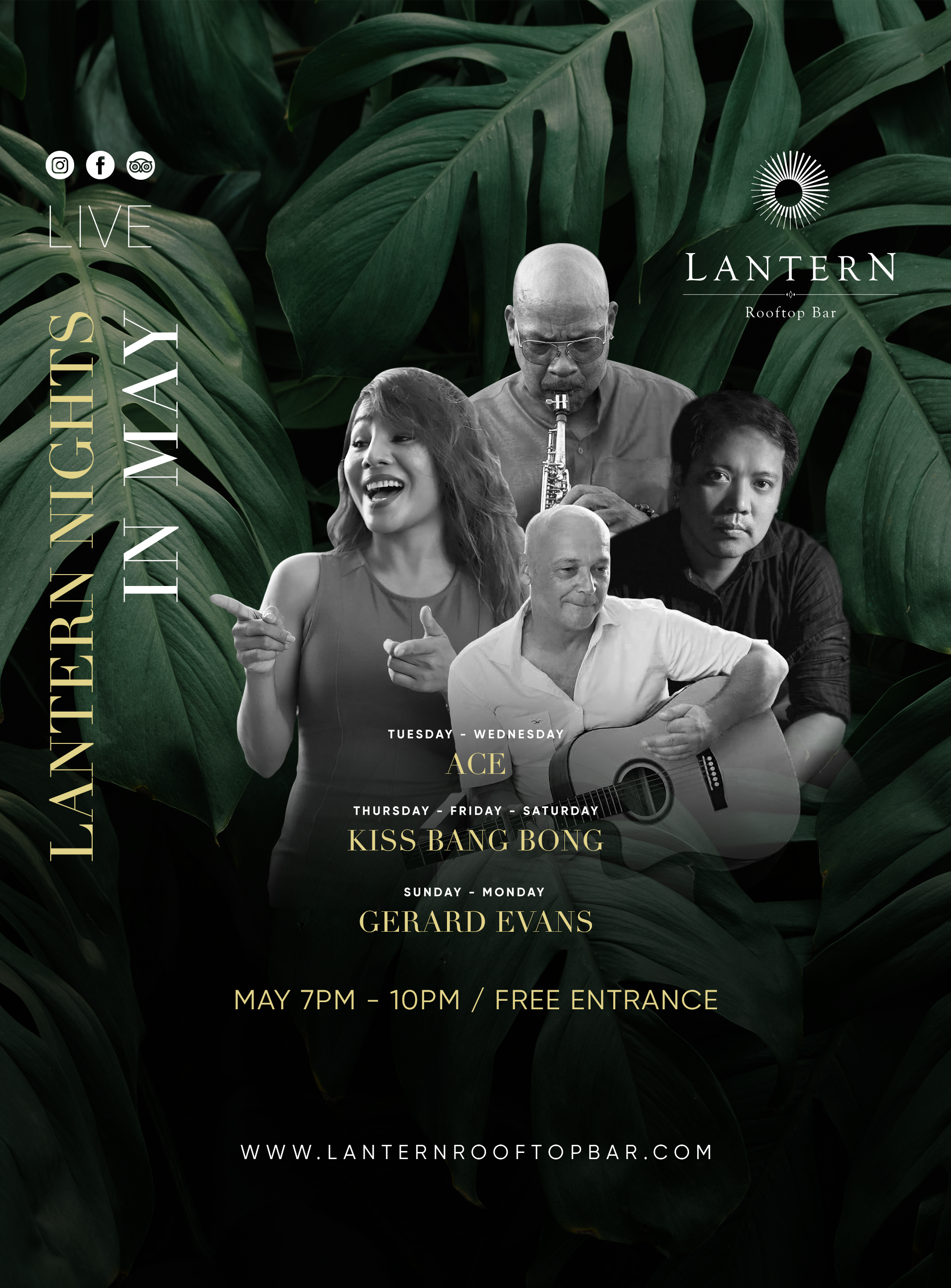 May Lantern Nights – Live music 7 days a week!