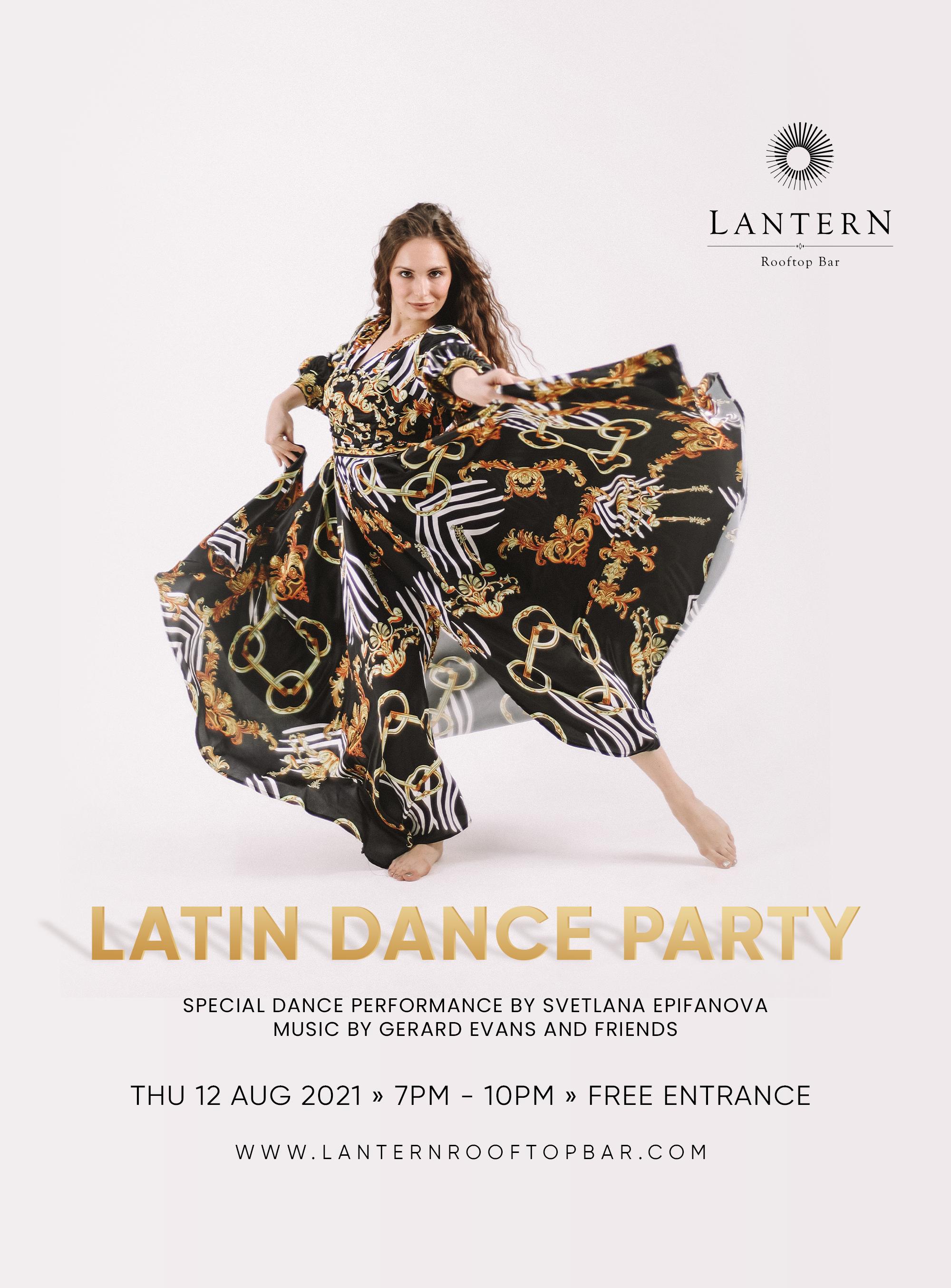 Latin Dance Party Lantern Rooftop Bar